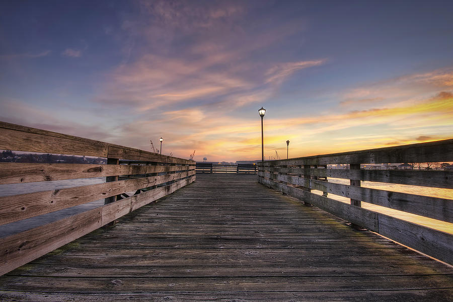 Prescott Park Boardwalk Photograph  - Prescott Park Boardwalk Fine Art Print