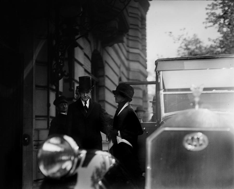 President Calvin Coolidge Front Left Photograph