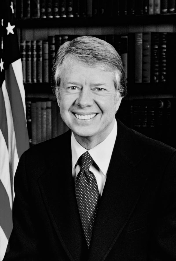 Jimmy Carter Photograph - President Jimmy Carter  by War Is Hell Store