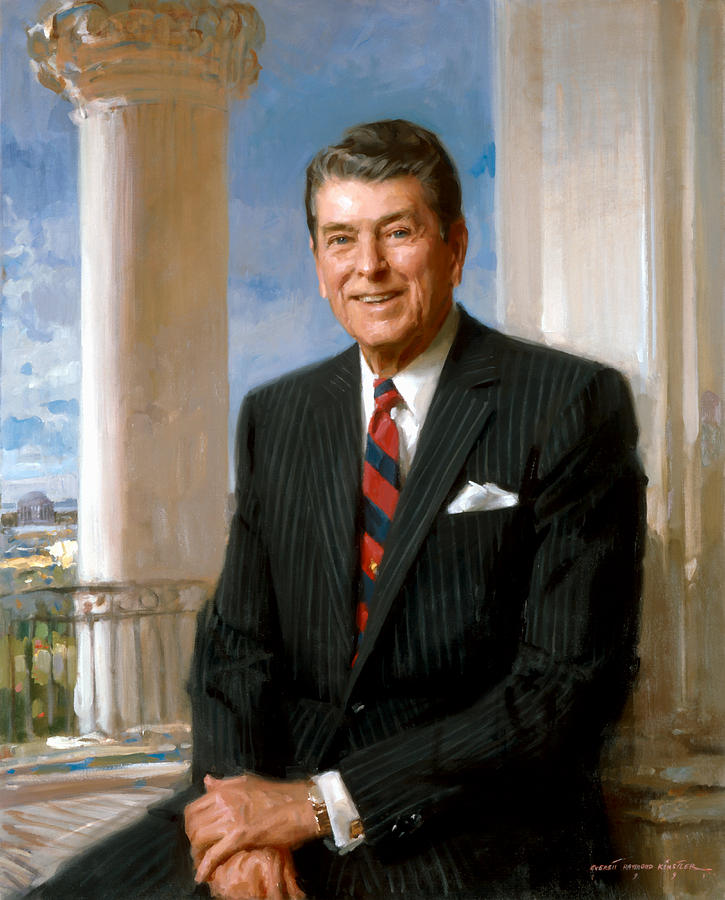 President Ronald Reagan Official Portrait Painting
