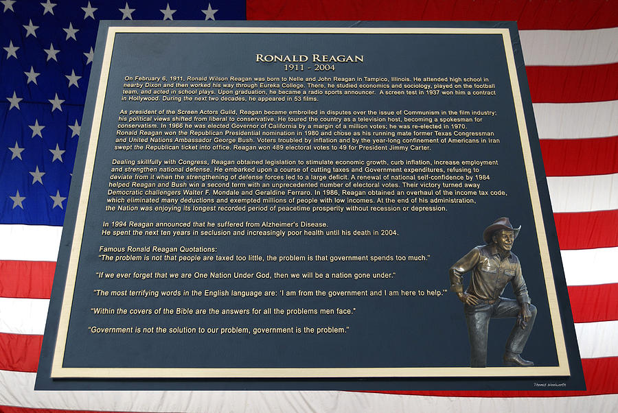 President Ronald Reagan Plaque Photograph
