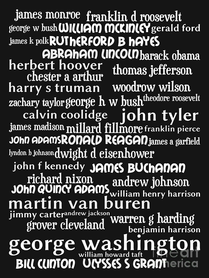 Presidents Of The United States 20130625bw Digital Art