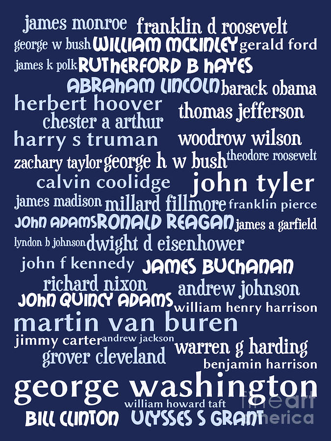 Presidents Of The United States 20130625bwco80 Digital Art
