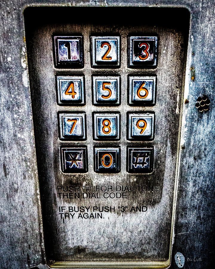 Keypad Photograph - Press Three And Try Again by Bob Orsillo