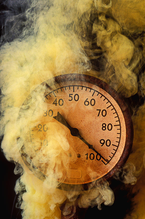 Pressure Gauge With Smoke Photograph