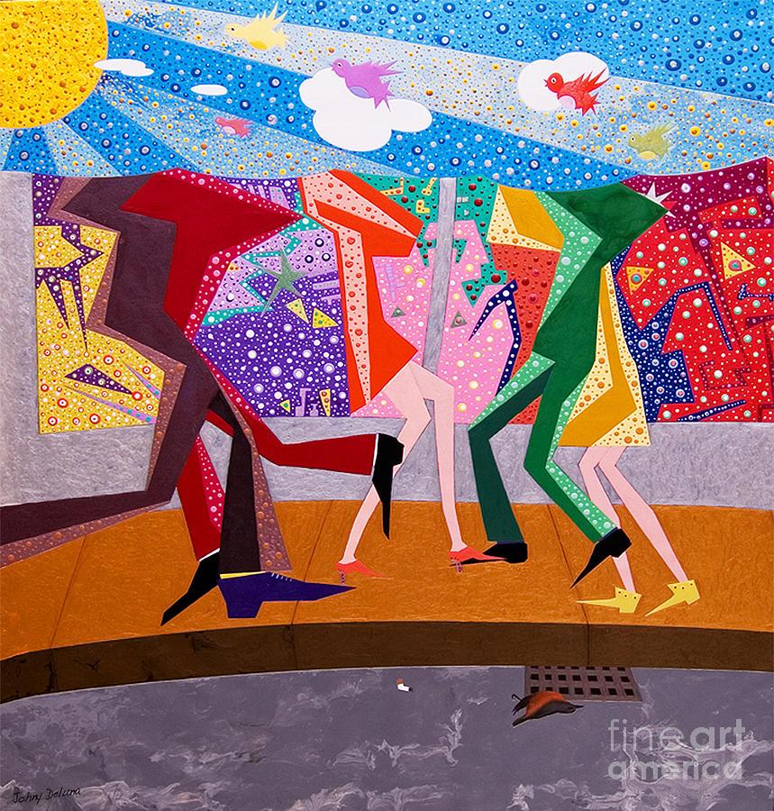 Birds Painting - Pretty Birds Go To Heaven by Johny Deluna