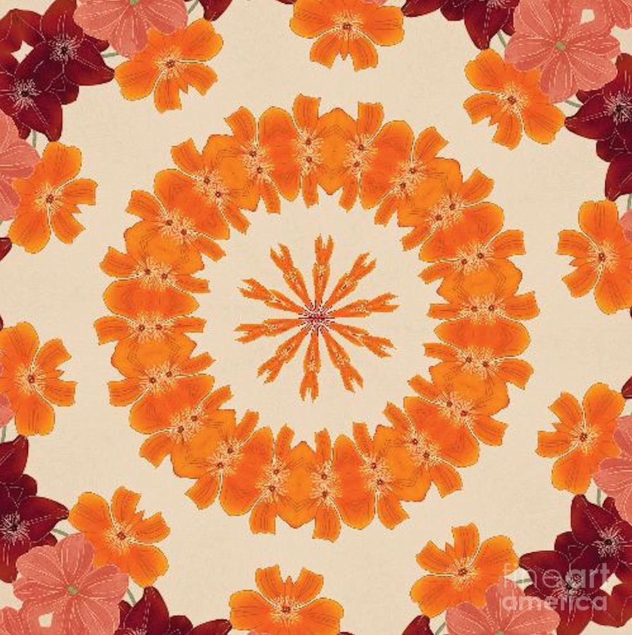 Kaleidoscope Photograph - Pretty In Orange by Lena Photo Art