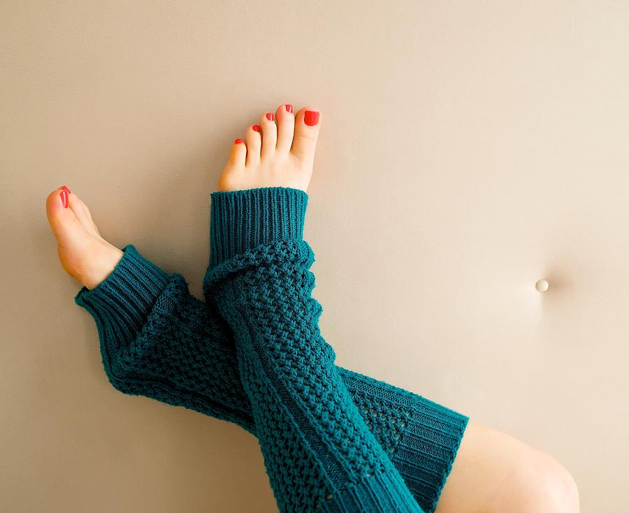 painted toes snuggled and warm in turquoise photograph by happy feet