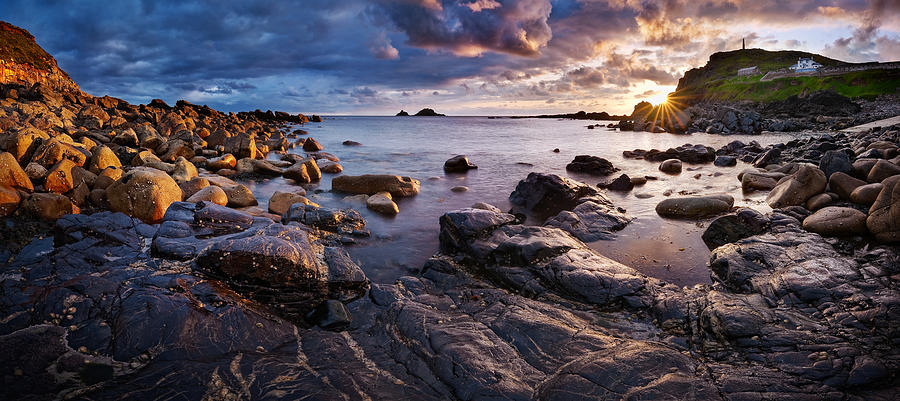 Priest Cove Panorama Photograph  - Priest Cove Panorama Fine Art Print