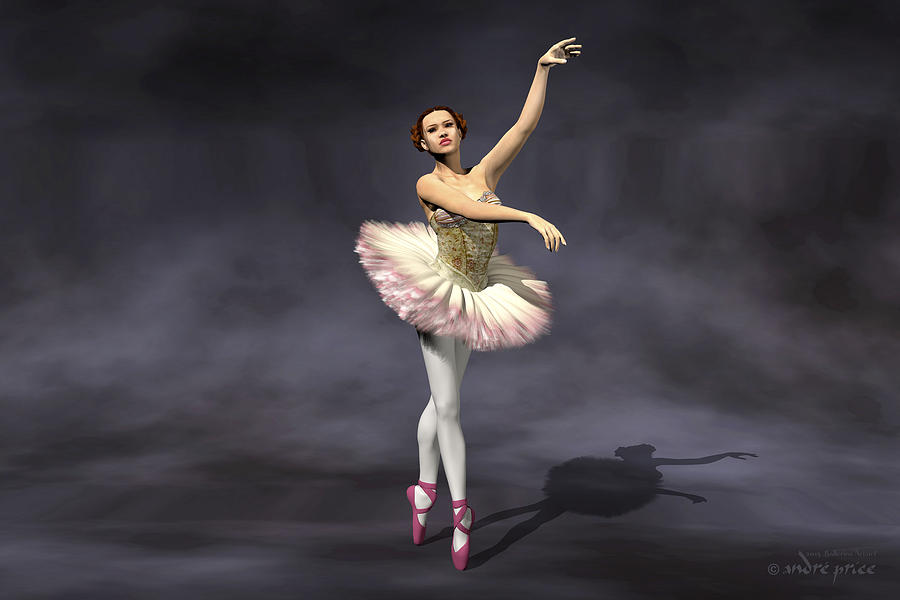Prima Ballerina Heaven On Pointe Pose Digital Art by Andre ...
