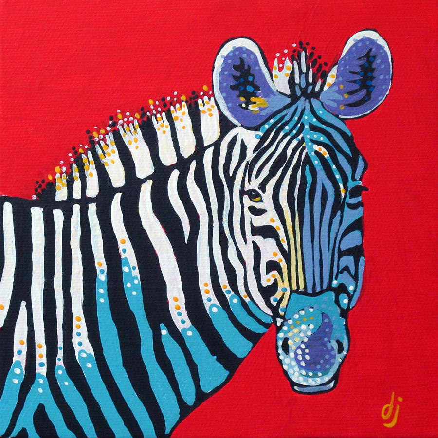 Acrylic Painting - Primarily Zebra by Dorothy Jenson