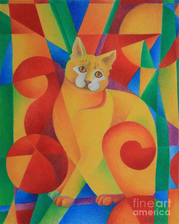 Primary Cat II Painting