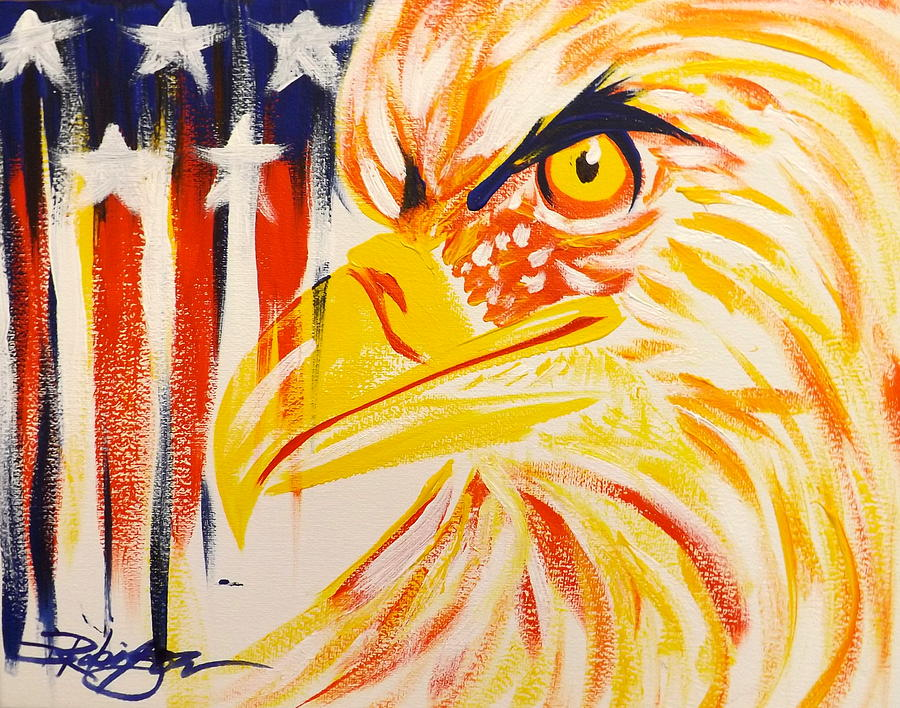 Primary Eagle Painting
