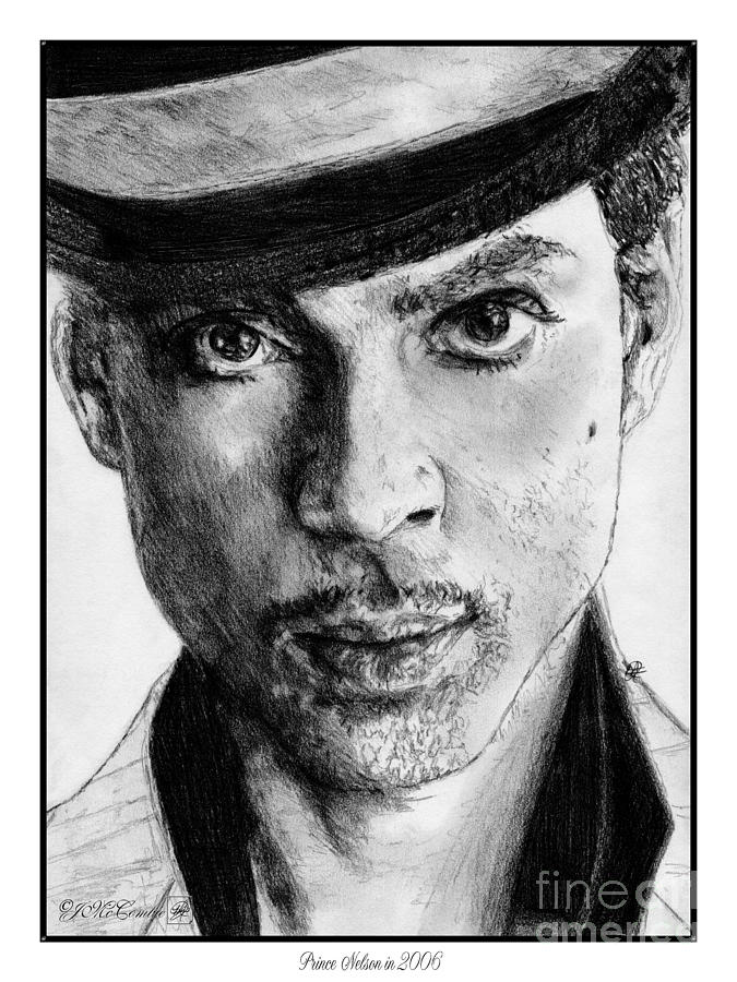Prince Nelson In 2006 Drawing  - Prince Nelson In 2006 Fine Art Print