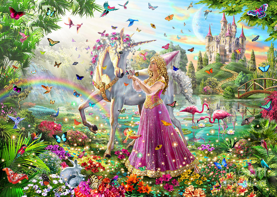 Princess And The Unicorn Digital Art
