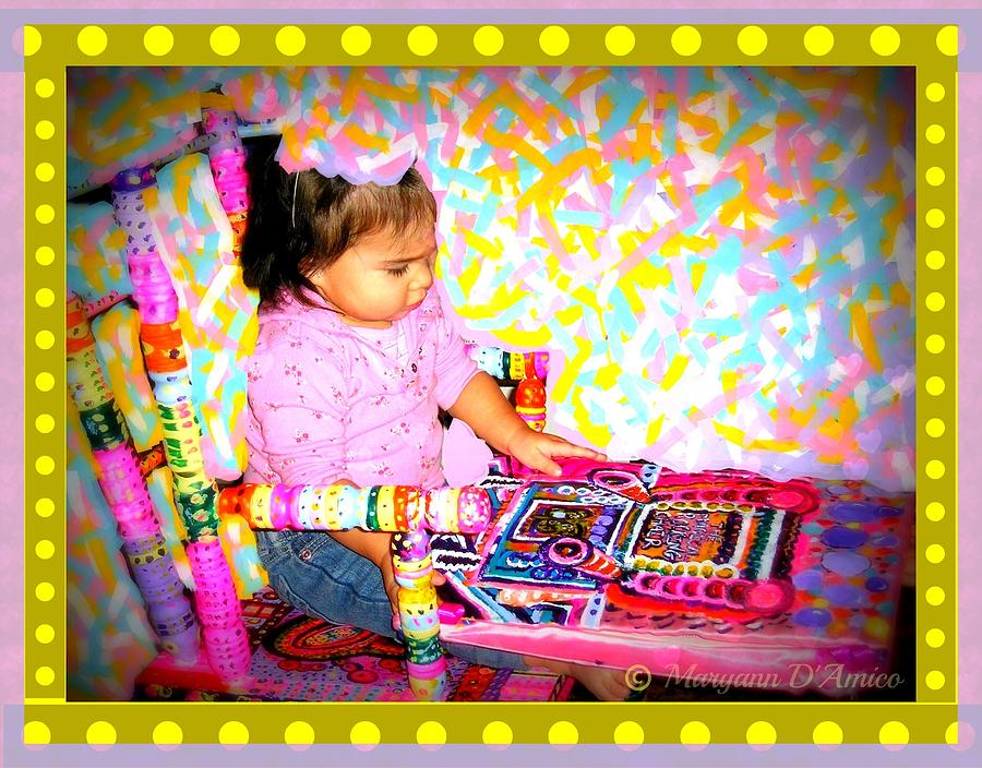 Princess Bella In The Original Magical Rocking Chair Painting  - Princess Bella In The Original Magical Rocking Chair Fine Art Print