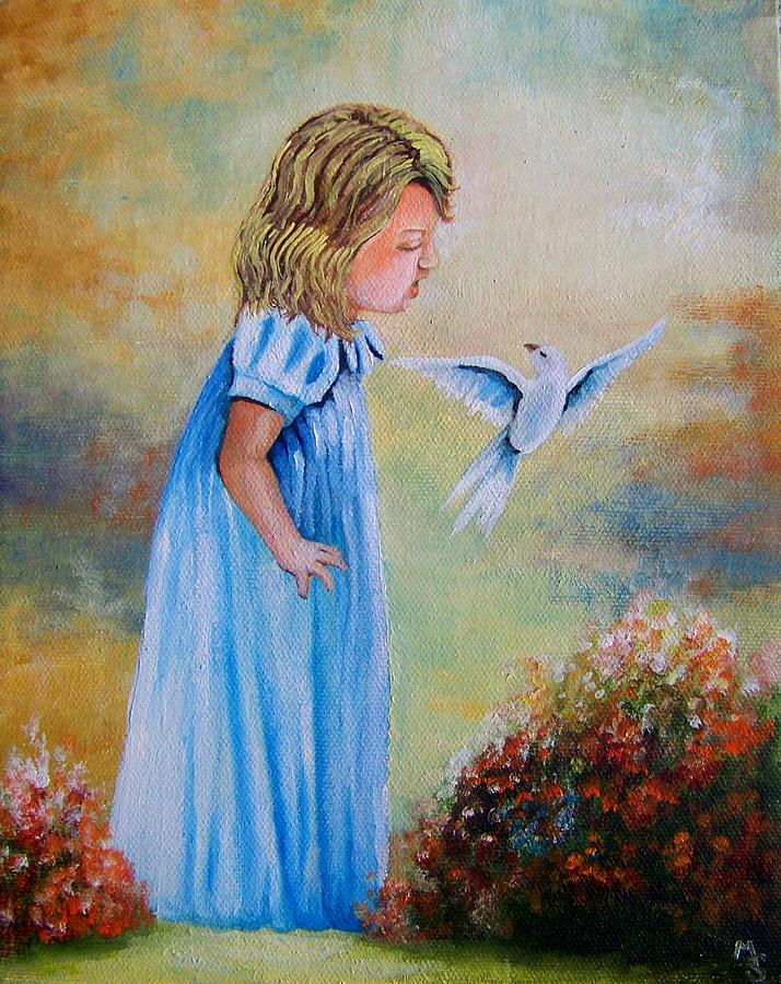 Princess Songbird Painting  - Princess Songbird Fine Art Print