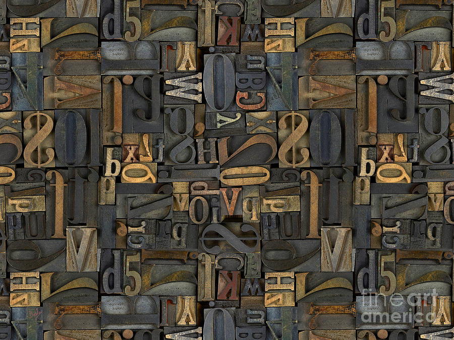 Printing Digital Art - Printing Letters 1 by Bedros Awak