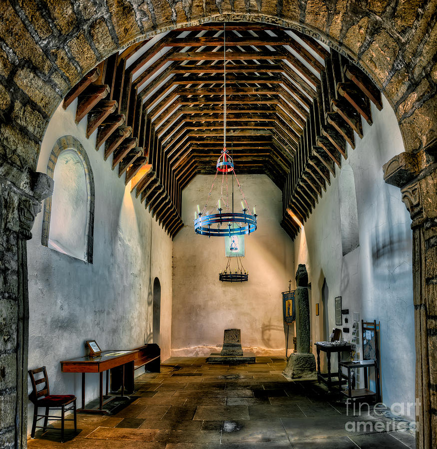 12th Century Photograph - Priory Church Of St Seiriol by Adrian Evans