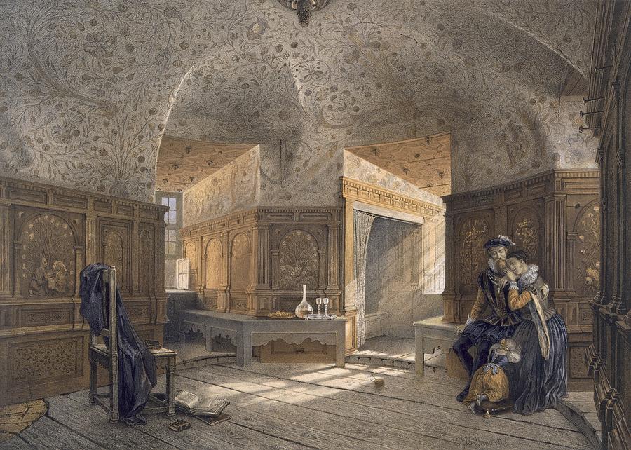Swedish Drawing - Prison Of King Erik Xiv, Son Of Gustav by Karl Johann Billmark