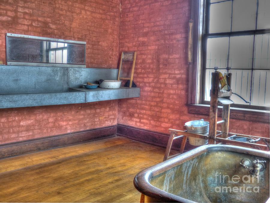 Mj Olsen Photograph - Prisoners Bath And Laundry by MJ Olsen