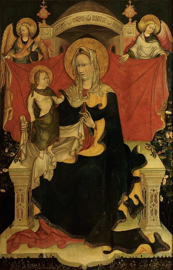 Madonna Photograph - Probably Artista Veneziano, Madonna by Everett