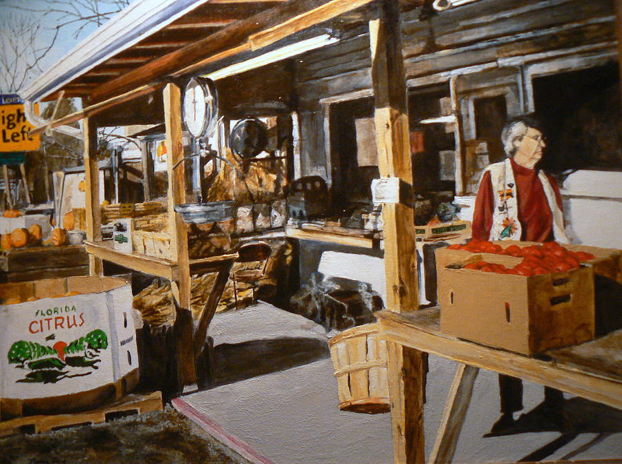 Produce Market Painting