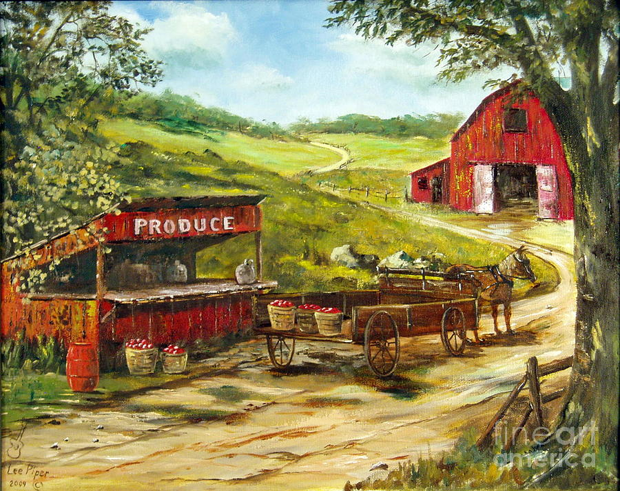Produce Stand Painting - Produce Stand by Lee Piper