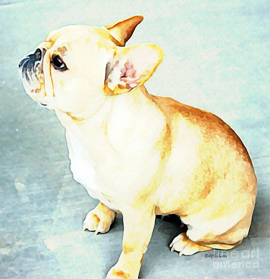 Profile In Frenchie Painting