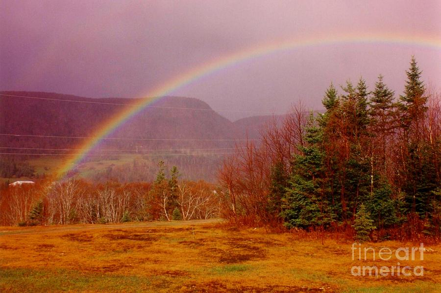 Rainbows Photograph - Promise And Hope Cape Breton by John Malone