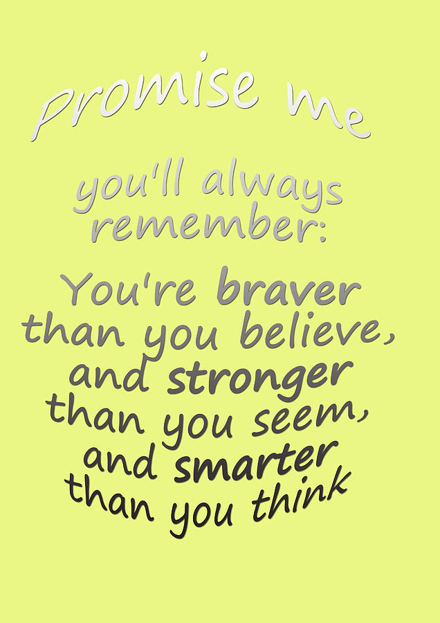 Promise Me - Winnie The Pooh - Yellow Digital Art