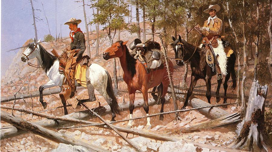 Frederic Remington Digital Art - Prospecting For Cattle Range by Frederic Remington
