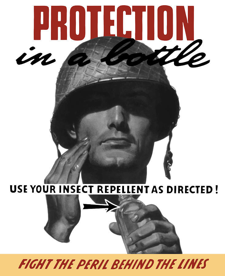 Protection In A Bottle Fight The Peril Behind The Lines Painting  - Protection In A Bottle Fight The Peril Behind The Lines Fine Art Print