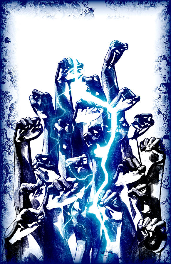 Protest The Power Digital Art  - Protest The Power Fine Art Print