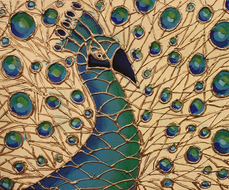 Proud As A Peacock 1 Painting  - Proud As A Peacock 1 Fine Art Print