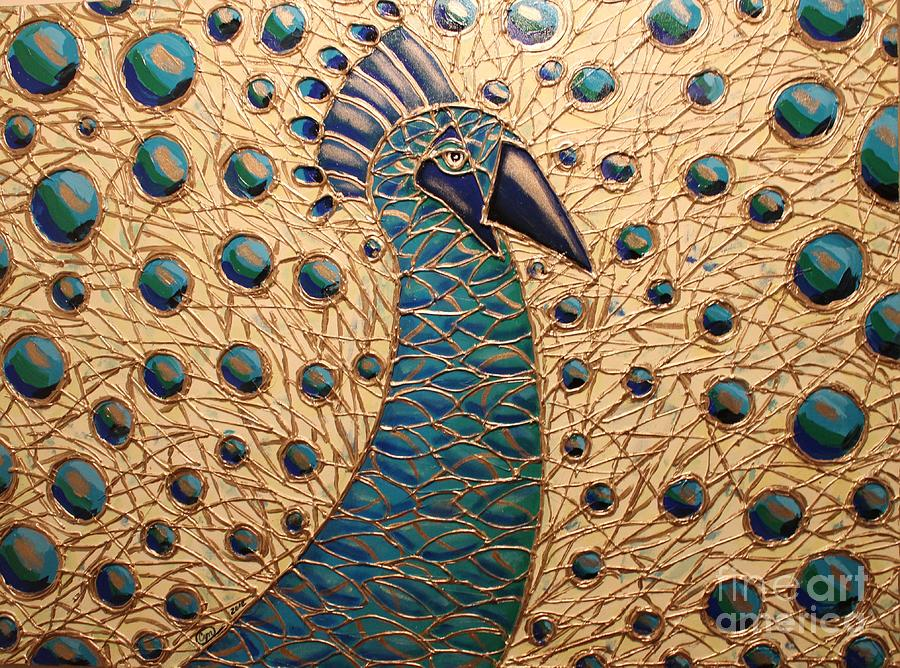 Peacock Painting - Proud As A Peacock 2 by Cynthia Snyder
