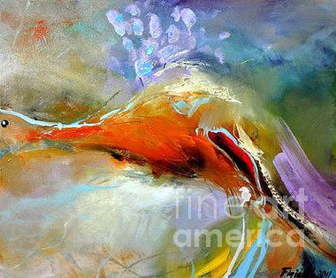 Peacock Painting - Proud As A Peacock by David Figielek