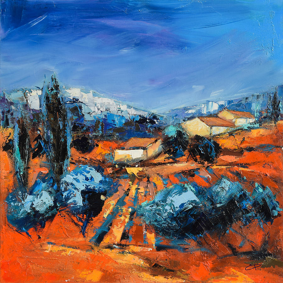 Provencal Landscape Painting  - Provencal Landscape Fine Art Print