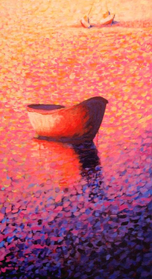 Waterscape Painting - Provincetown Glow by Craig  Bruce