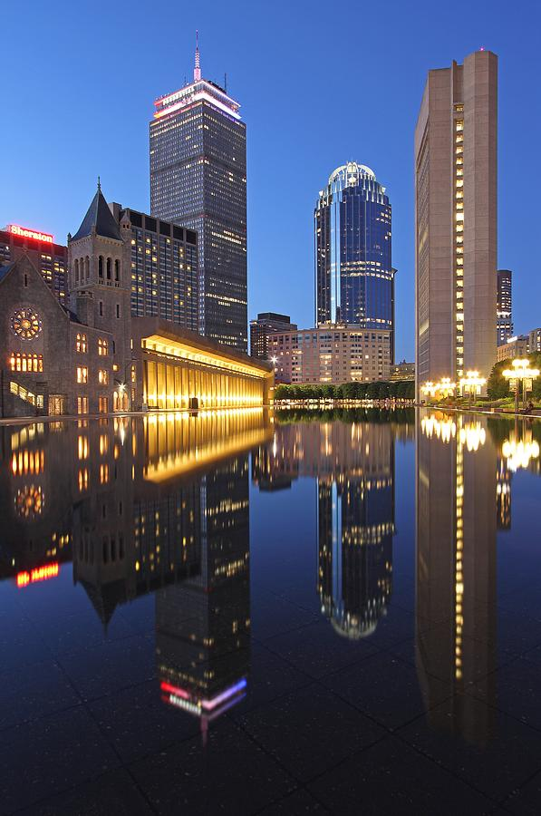 Boston Photograph - Prudential Center At Night by Juergen Roth