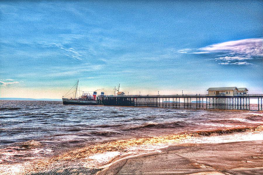 Ps Waverley At Penarth Pier 2 Photograph