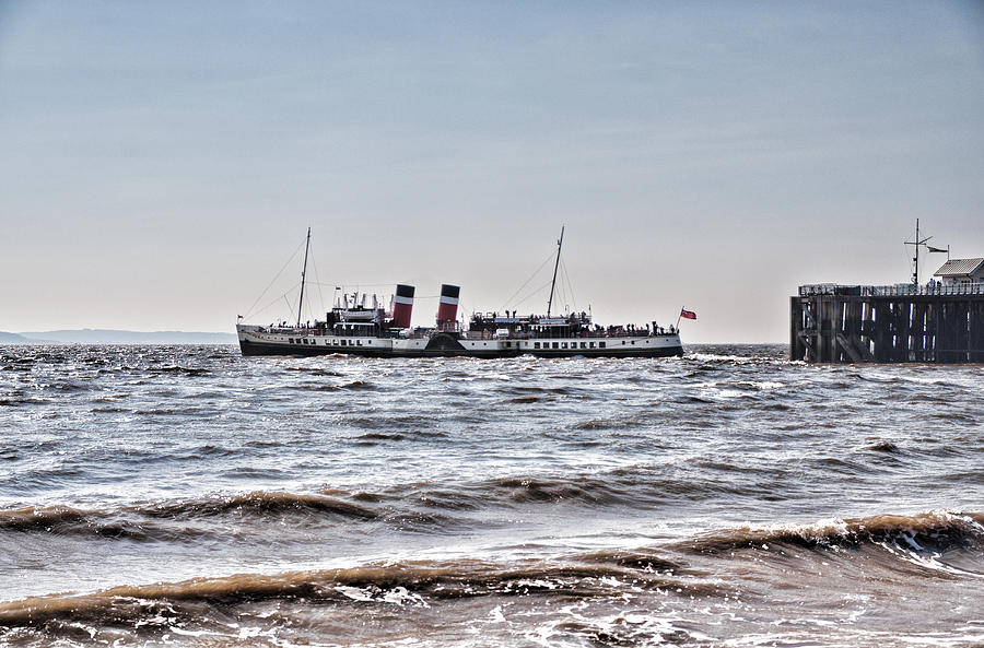 Ps Waverley Leaves Penarth Pier Photograph