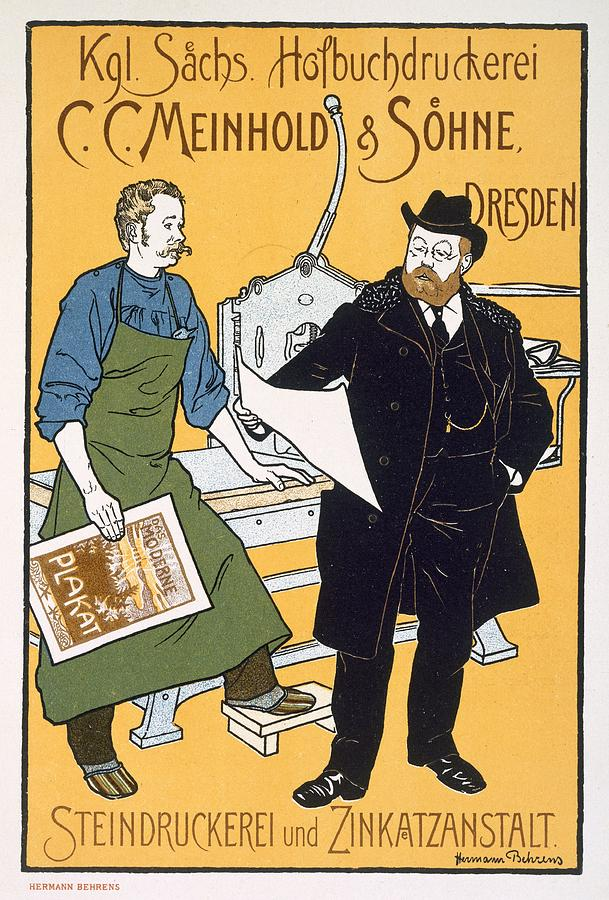 Pster Advertising C. C. Meinhold & Sons Drawing