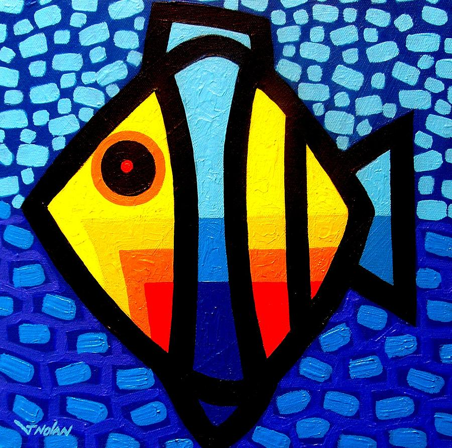 Psychedelic Fish Painting