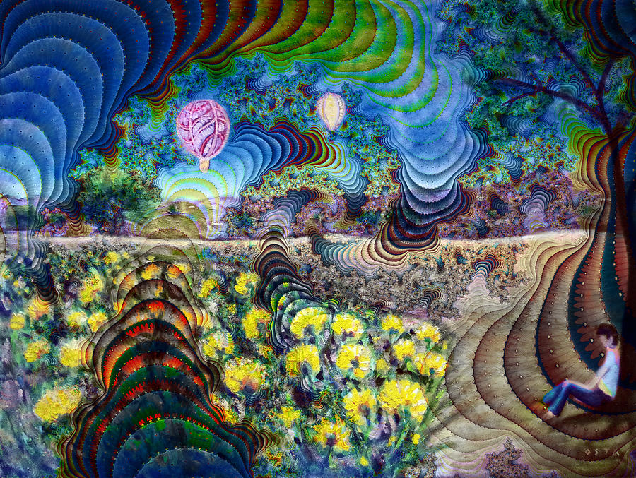 Psychedelic Landscape Painting