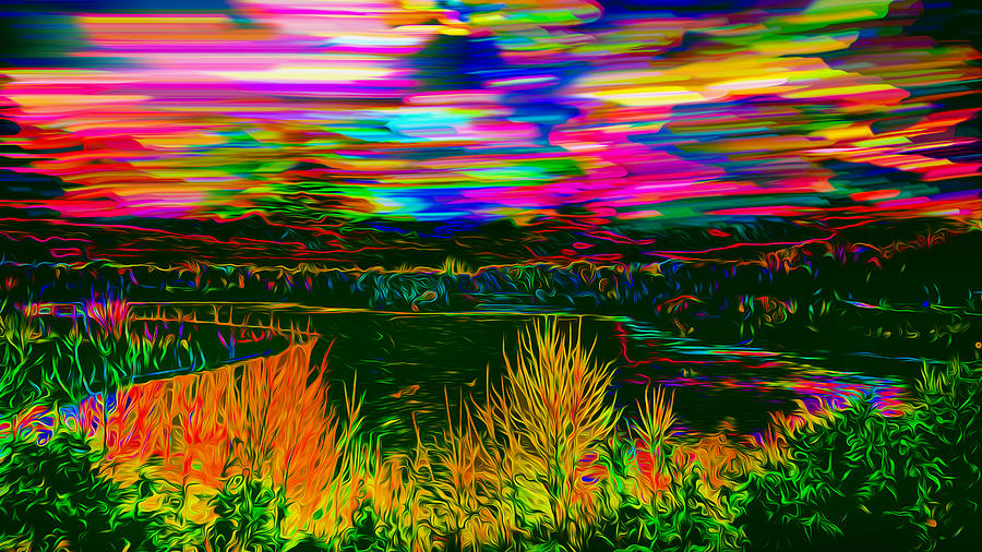 Psychedelic Landscape At Dusk Photograph by Ron Fleishman
