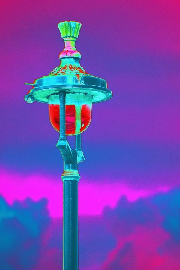 Psychedelic London Streetlight Photograph