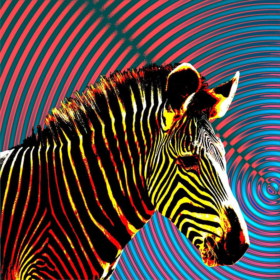 zebra psychedelia wall art -#main