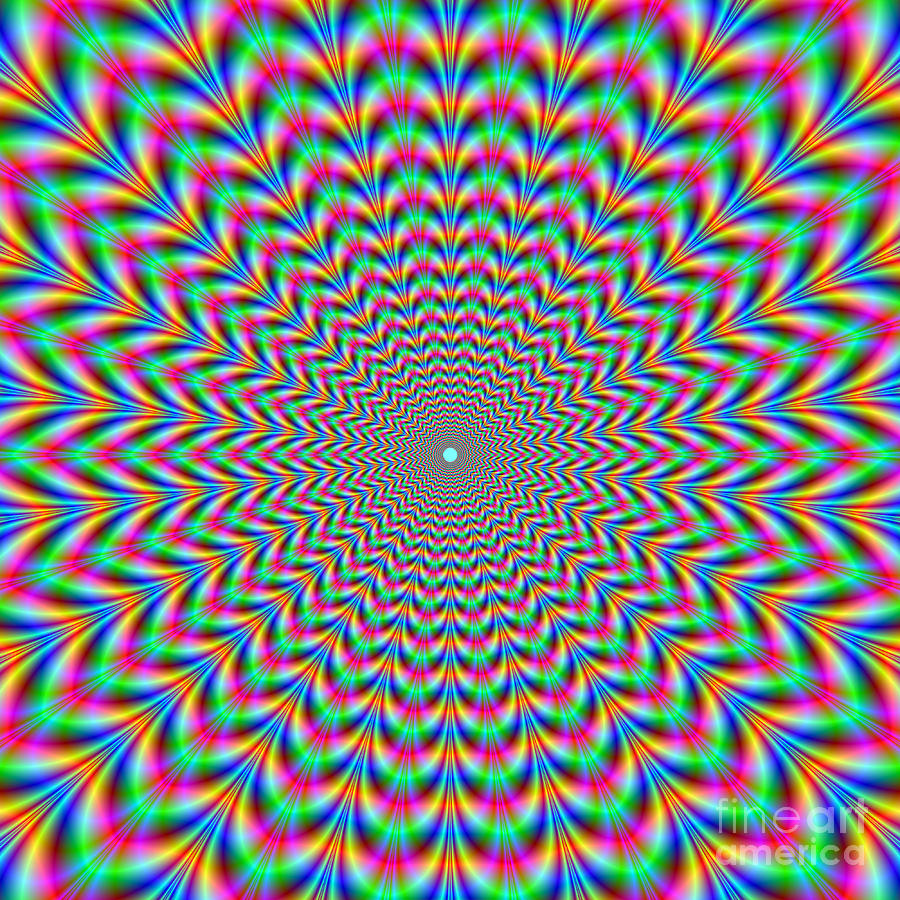 Psychedelic Zigzag Rings is a piece of digital artwork by Colin ...