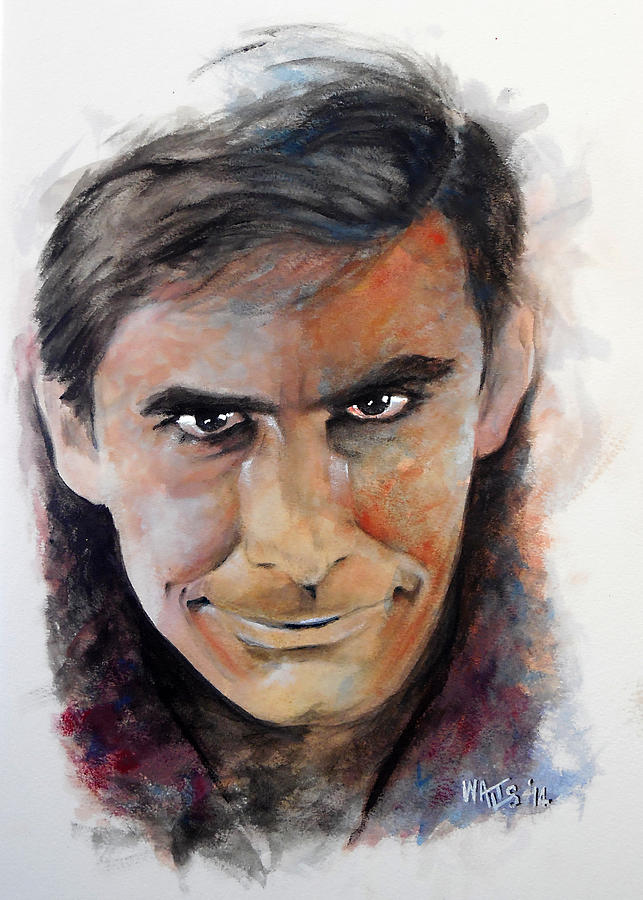 Psycho Painting - Psycho - Anthony Perkins by William Walts